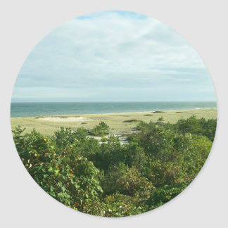 Sconset Shoreline Classic Round Sticker