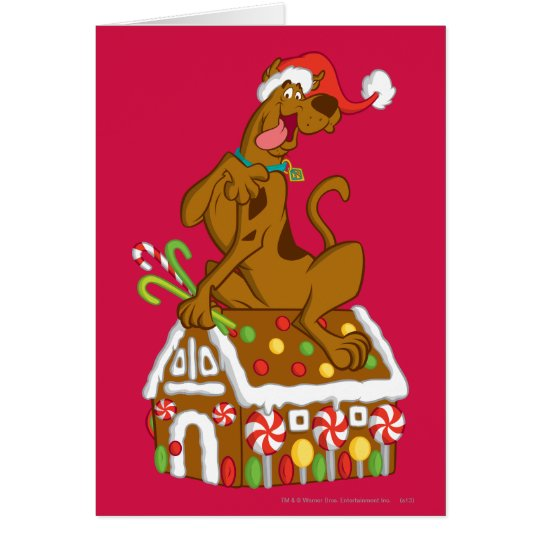Scooby and Gingerbread House Card