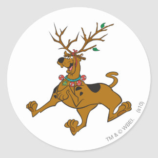 Scooby Christmas 32 Classic Round Sticker