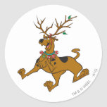 Scooby Christmas 32 Round Stickers