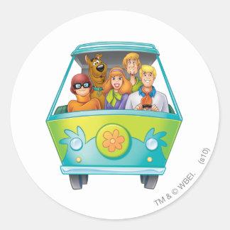 Scooby Doo Airbrush Pose 25 Classic Round Sticker
