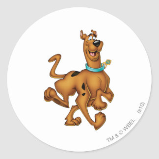 Scooby Doo Airbrush Pose 3 Round Stickers