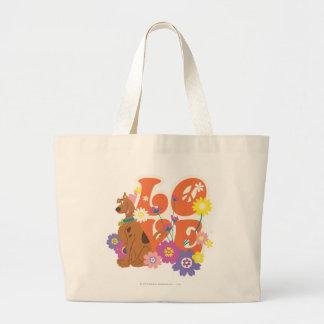 "Scooby Doo ""amor "" Bolsa Tela Grande"