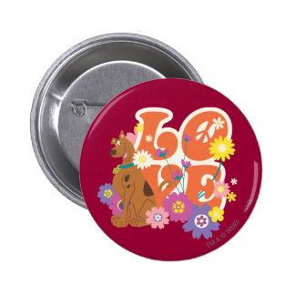 "Scooby Doo ""amor "" Pin Redondo De 2 Pulgadas"