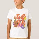 """Scooby Doo """"amor """" Playera"""
