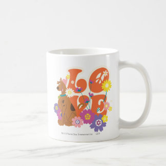 "Scooby Doo ""amor "" Taza Básica Blanca"