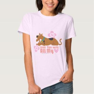 """Scooby Doo """"amor usted con todo mi corazón """" Camisas"""