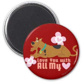"""Scooby Doo """"amor usted con todo mi corazón """" Imán Redondo 5 Cm"""