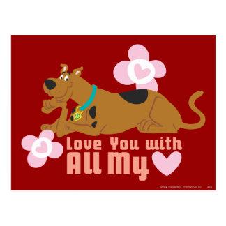 "Scooby Doo ""amor usted con todo mi corazón "" Tarjeta Postal"