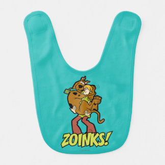 Scooby-Doo and Shaggy Zoinks! Baby Bib