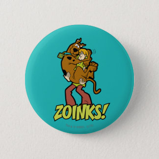 Scooby-Doo and Shaggy Zoinks! Button