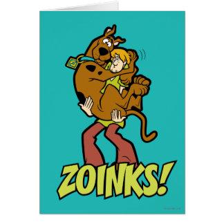 Scooby-Doo and Shaggy Zoinks! Card