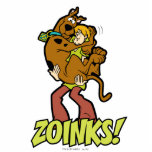 """Scooby-Doo and Shaggy Zoinks! Cutout<br><div class=""""desc"""">Check out the classic scene of Shaggy holding a scared Scooby-Doo in his arms,  with the familiar phrase &quot;ZOINKS!&quot;.</div>"""