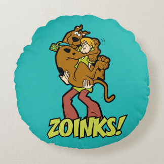 Scooby-Doo and Shaggy Zoinks! Round Pillow