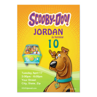 Scooby Doo Birthday 5x7 Paper Invitation Card
