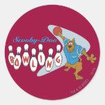 "Scooby Doo ""bolos "" 1 Pegatinas Redondas"