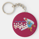 "Scooby Doo ""Bowling""1 Basic Round Button Keychain"