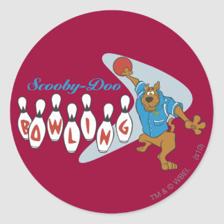 "Scooby Doo ""Bowling""1 Classic Round Sticker"