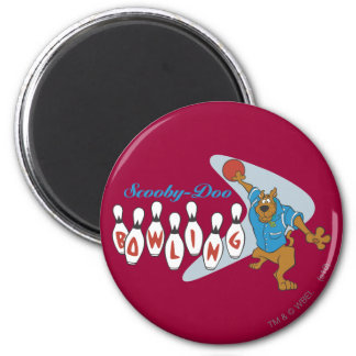 """Scooby Doo """"Bowling""""1 2 Inch Round Magnet"""