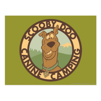 """Scooby Doo """"Canine Camping"""" Postcard"""