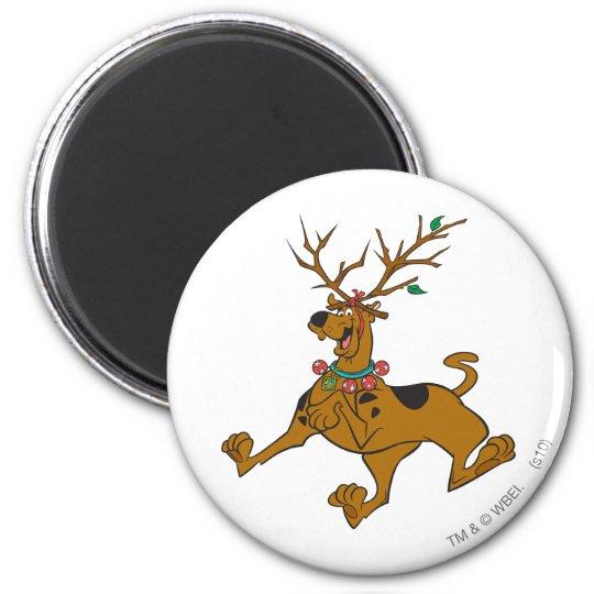 Scooby Doo Christmas.Scooby Doo Christmas Holiday Antlers Magnet