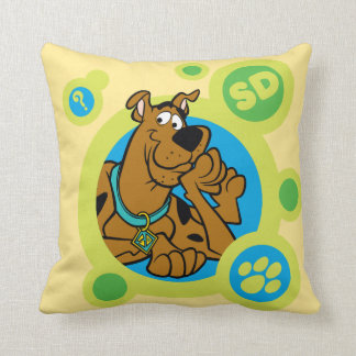 Scooby-Doo Circles SD Badge Throw Pillow