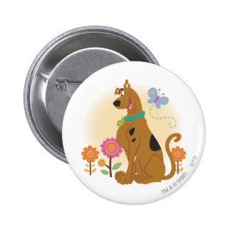 Scooby Doo después de Butterfly1 Pin Redondo 5 Cm