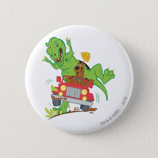 Scooby Doo Dinosaur Attack1 Pinback Button