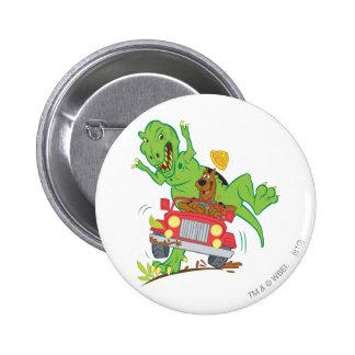 Scooby Doo Dinosaur Attack1 Pinback Button