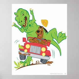 Scooby Doo Dinosaur Attack1 Print