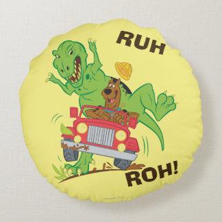 Scooby Doo Dinosaur Attack1 Round Pillow
