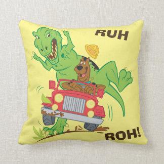 Scooby Doo Dinosaur Attack1 Throw Pillow