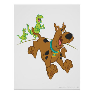 Scooby Doo Dinosaur Chasing2 Poster