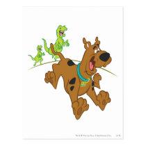 Scooby-Doo Dinosaur Escape Postcard