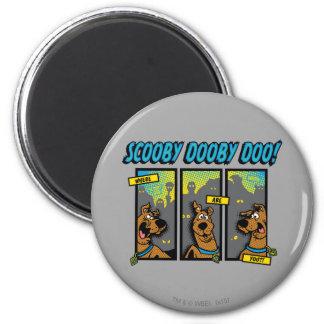 Scooby-Doo donde está usted los paneles cómicos Imán Redondo 5 Cm