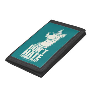 """Scooby-Doo """"Don't Hate, Congratulate"""" Graphic Trifold Wallet"""