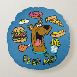 Scooby-Doo Feed Me! Round Pillow