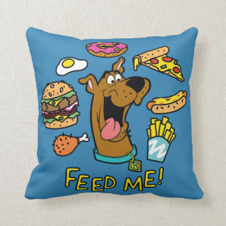 Scooby-Doo Feed Me! Throw Pillow