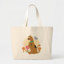Scooby Doo Following Butterfly1 Large Tote Bag