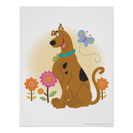 Scooby Doo Following Butterfly1 Poster