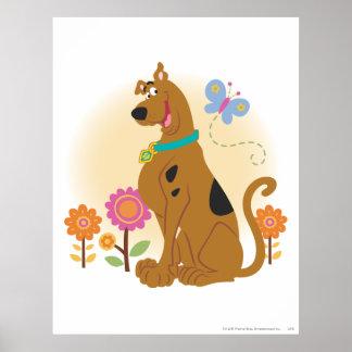 Scooby Doo Following Butterfly1 Print