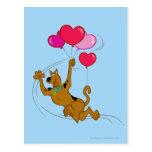 Scooby Doo - globos del corazón Postal