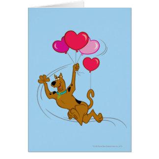 Scooby Doo - globos del corazón Tarjeta De Felicitación