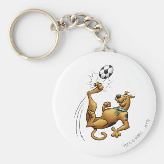 Scooby Doo Goal Sports Airbrush Pose 1 Basic Round Button Keychain
