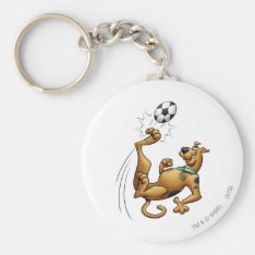Scooby Doo Goal Sports Airbrush Pose 1 Keychain at Zazzle