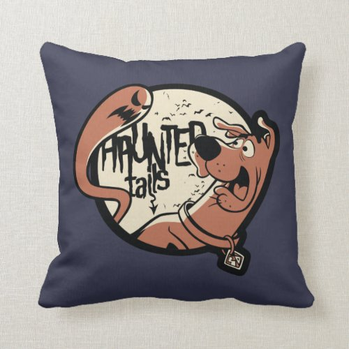 Scooby-Doo vintage halloween throw pillow