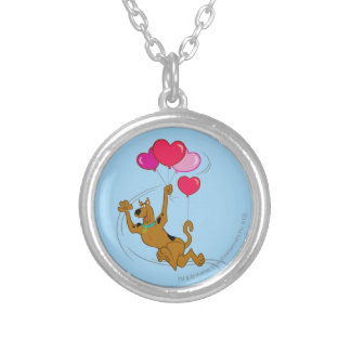 Scooby Doo - Heart Balloons Silver Plated Necklace