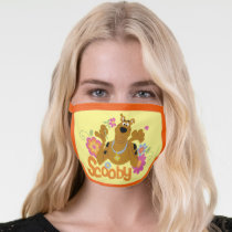 Scooby-Doo In Flowers Face Mask