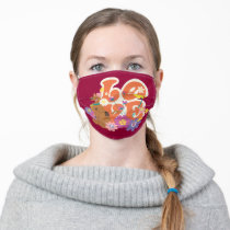 """Scooby-Doo """"Love"""" Adult Cloth Face Mask"""