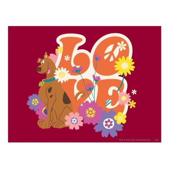 "Scooby Doo ""Love"" Postcard"